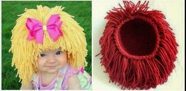 cap for a girl. Knit crochet