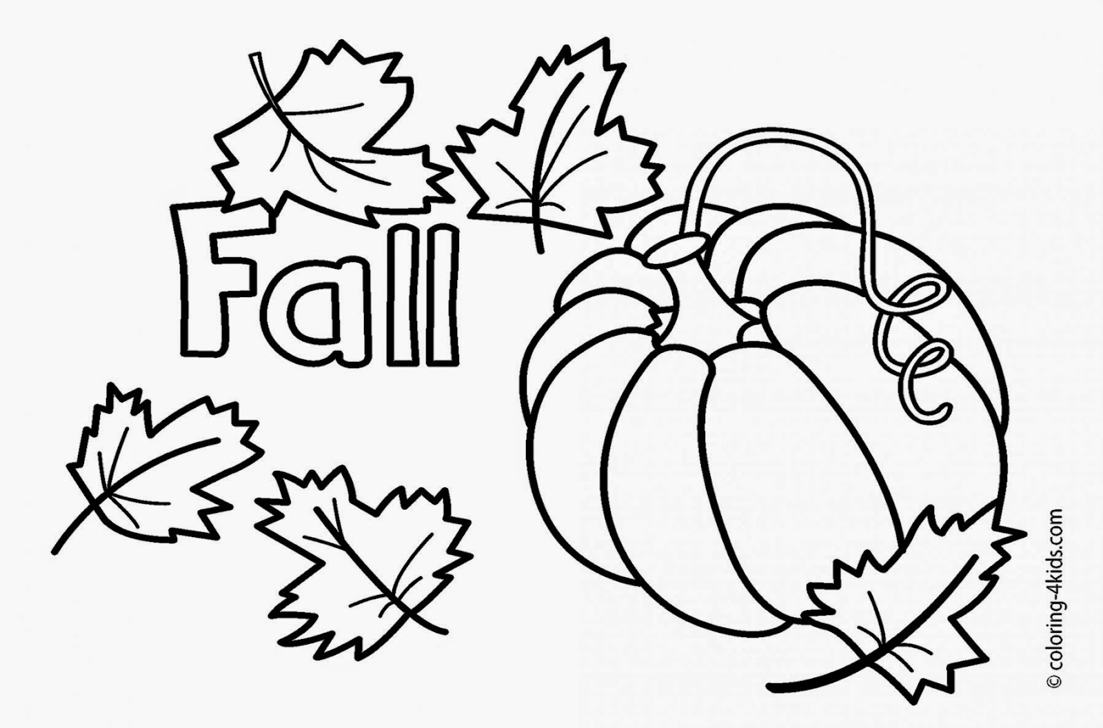 Fall Coloring Pages Pumpkin Coloring Pages