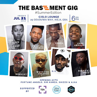 The July edition of The Basement Gig