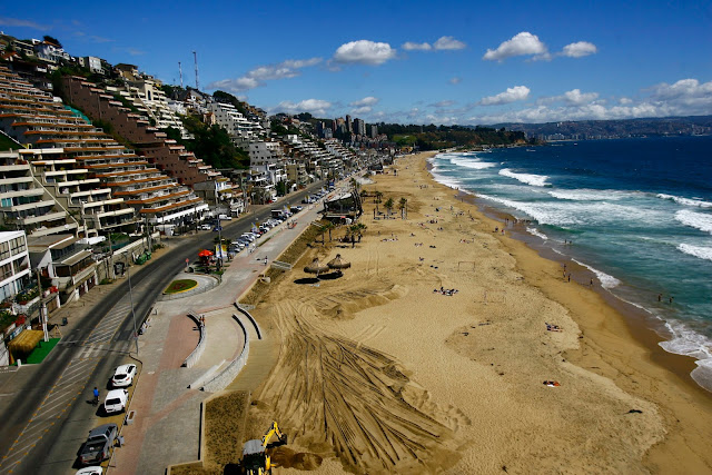 Reñaca Beach, Viña del Mar, Chile.