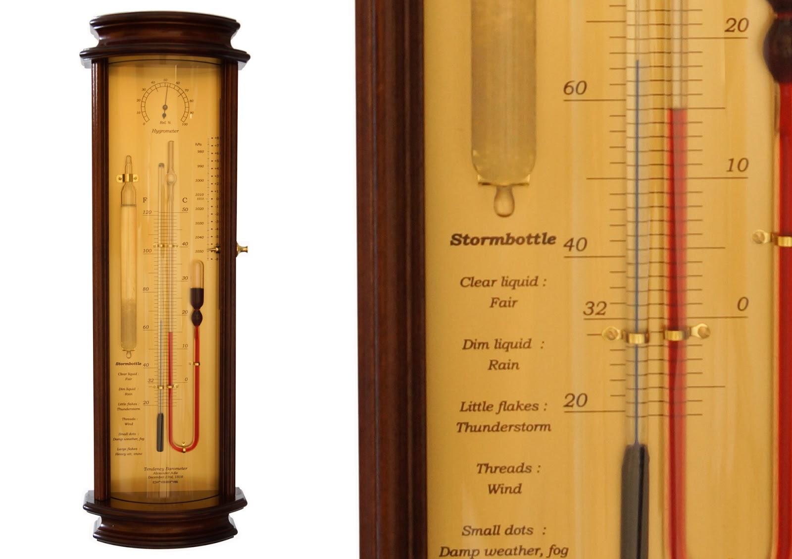 storm glass barometer instructions