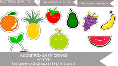 Recortables de frutas para imprimir