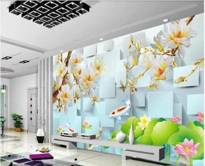 wallpaper dinding ikan 3d paling keren