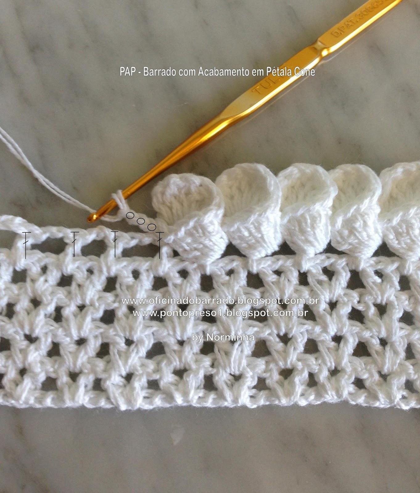 clochettes bordure au crochet le blog du fil. Black Bedroom Furniture Sets. Home Design Ideas