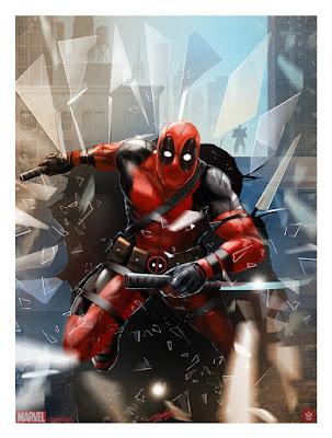 Deadpool Fine Art Giclee Print by Andy Fairhurst x Grey Matter Art x Marvel