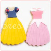 Galletas vestidos princesas disney