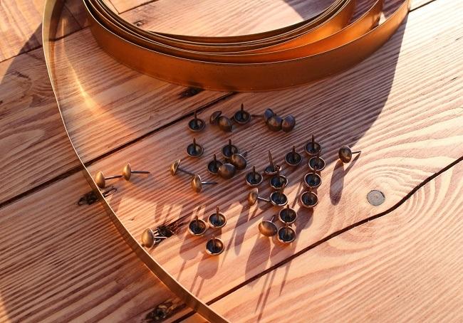 copper trim and studs