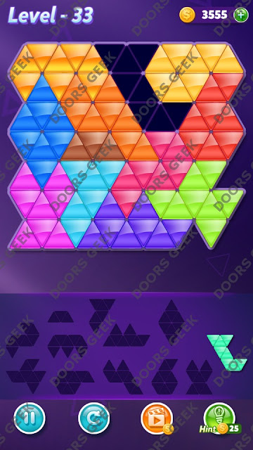 Block! Triangle Puzzle Grandmaster Level 33 Solution, Cheats, Walkthrough for Android, iPhone, iPad and iPod