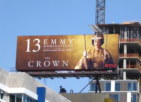 Crown 2017 Emmy nominee billboard