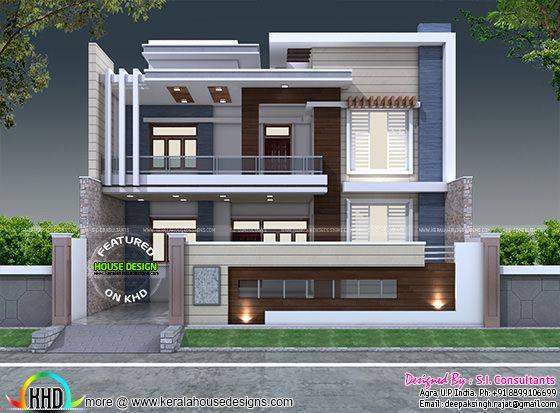 House Front Wall Elevation : January kerala home design and floor plans
