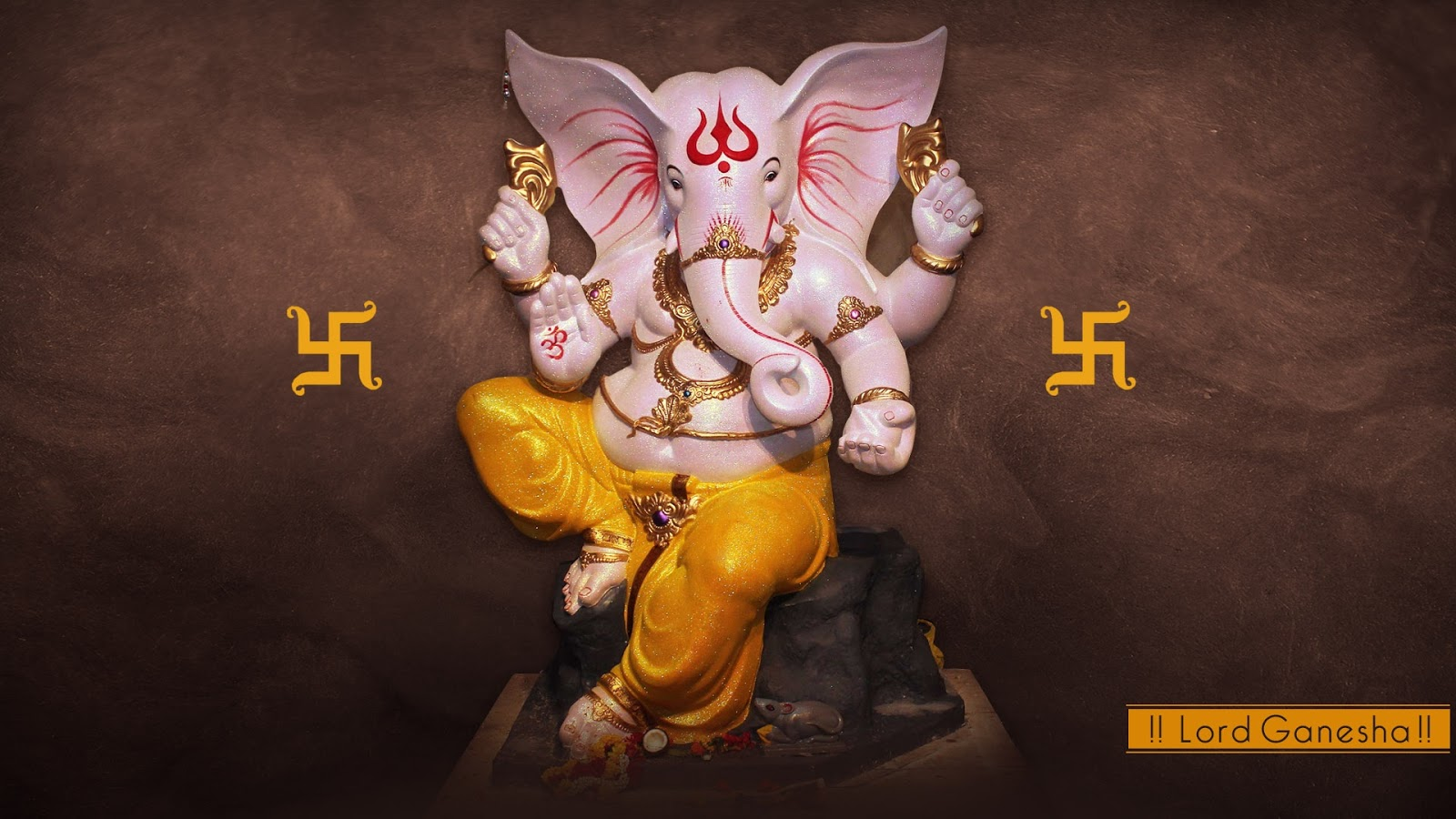 Ganesha Stone God Wallpaper
