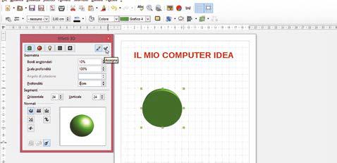 Come effettuare conversione in 3D con libreoffice