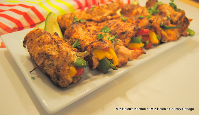 Grilled Chicken Fajita Roll Ups at Miz Helen's Country Cottage