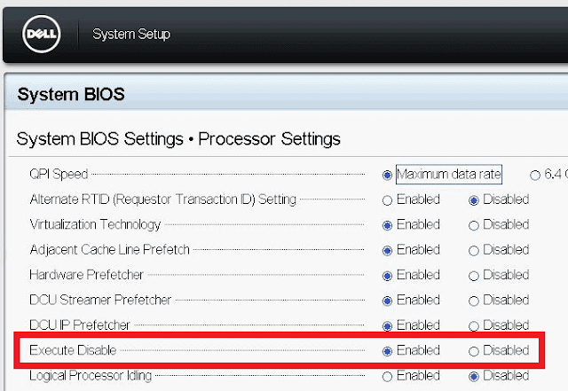 VMWare: ESXi requires the execute disable/no execute cpu feature to be enabled