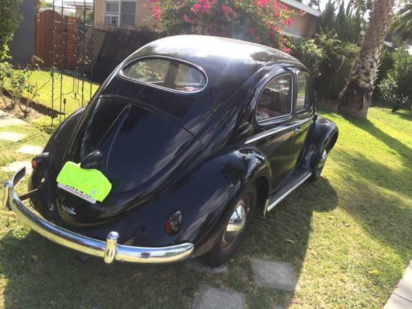 Super Rare 1953 Push Button Oval Window Bug