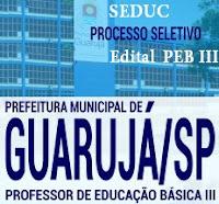 Apostila Prefeitura de Guarujá - Professor de Educação Básica III (PEB)
