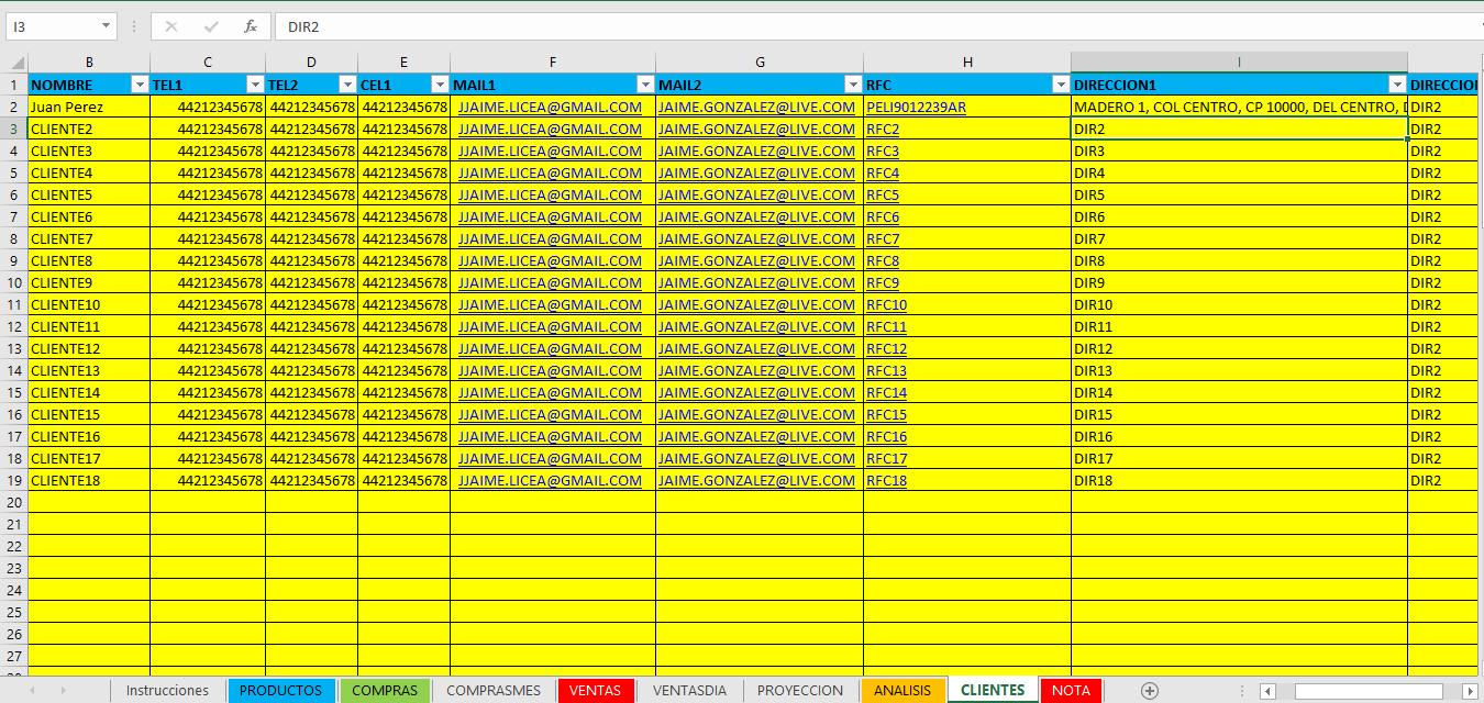 Negocios En Excel