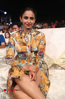 Actress Rakul Preet Singh Stills in Short Dress at Dhruva Pre Release Function  0099.JPG