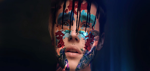 justin bieber con pintura en el rostro en su video where are u now