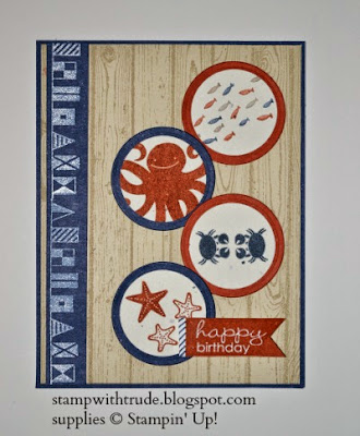 http://stampwithtrude.blogspot.com Stampin' Up! birthday card by Trude Thoman Sea Street stamp set