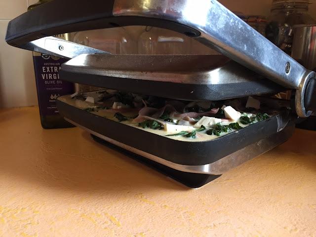 omlette in the sandwich maker