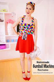Easy Homemade Gumball Machine Costume for Halloween -- Click through for full tutorial!