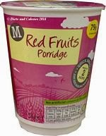 Morrisons red fruits porridge