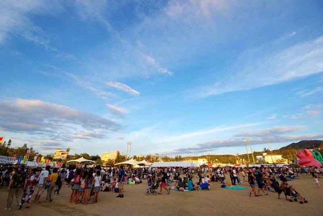 festival grounds scene