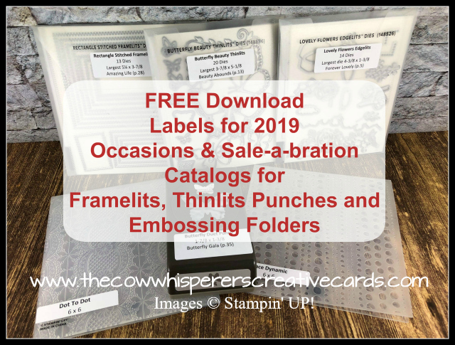 Free Labels, Framelits, Punches, Embossing Folder