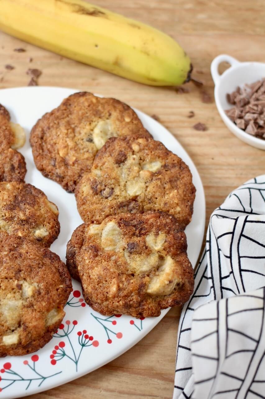 Schoko-Bananen-Cookies mit Erdnüssen