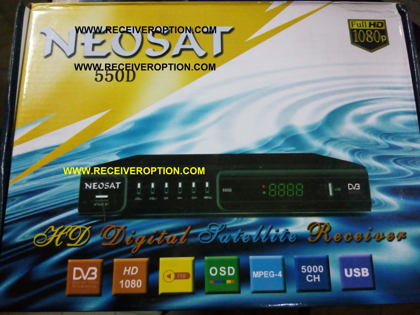 NEOSAT 550D HD RECEIVER AUTO ROLL POWERVU KEY SOFTWARE - HOW TO