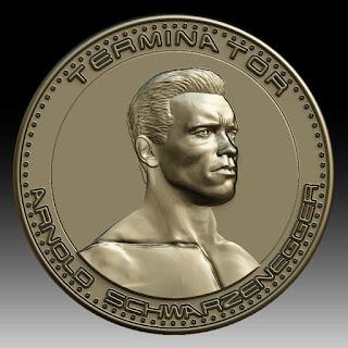 3D printing model Arnold Schwarzenegger medallion coin