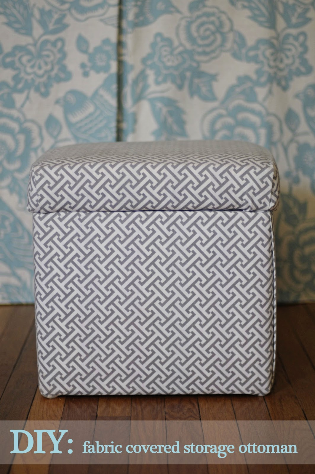 No Sew Storage Ottoman Cover Julia Ryan