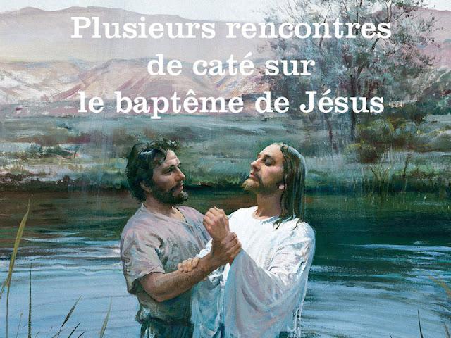 Rencontres de caté autour du baptême de Jésus