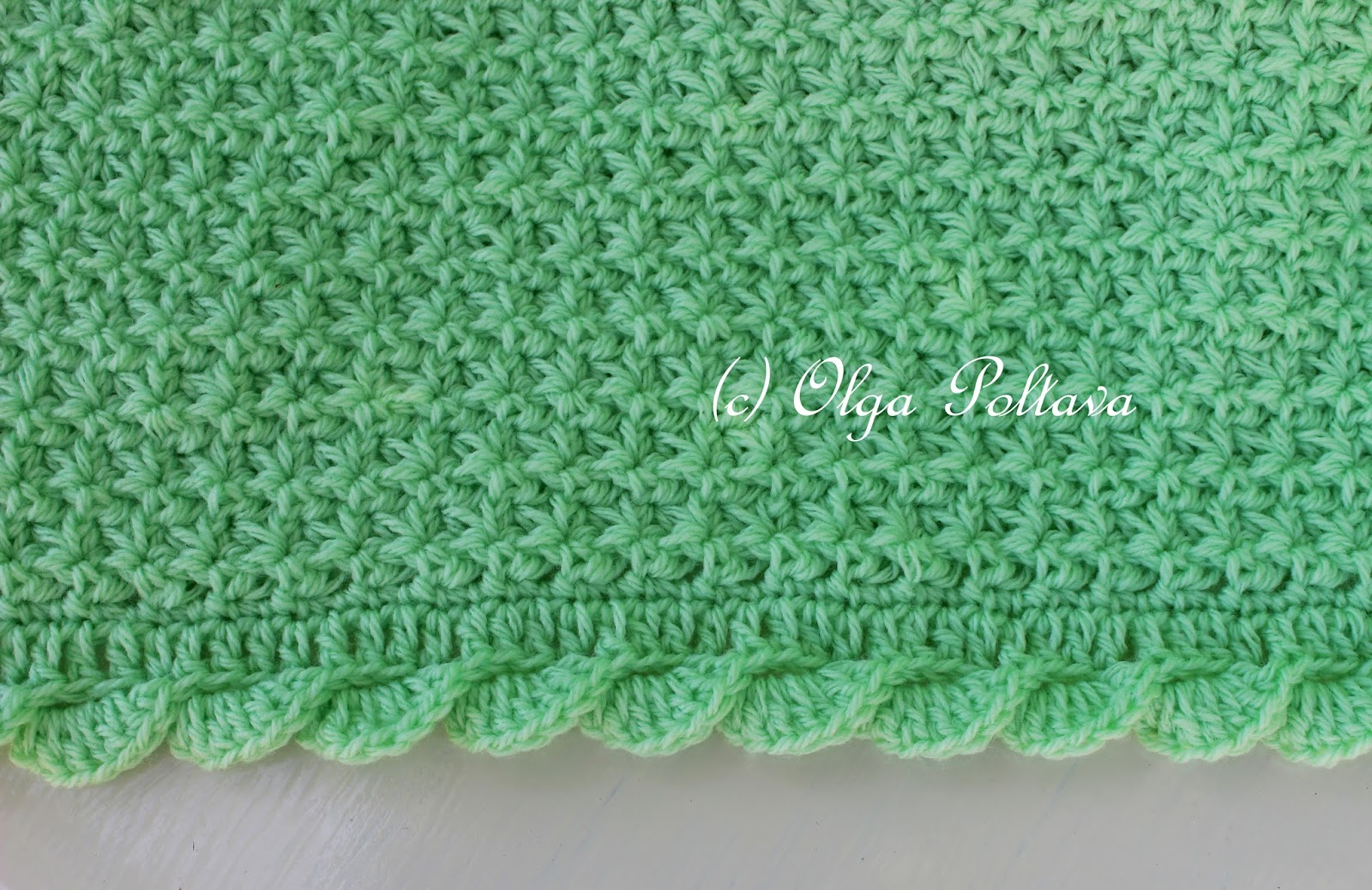 Lacy crochet star stitch baby blanket with scalloped trim friday july 15 2016 dt1010fo