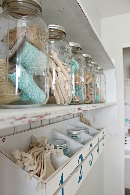 Use mason jar for craft organizers