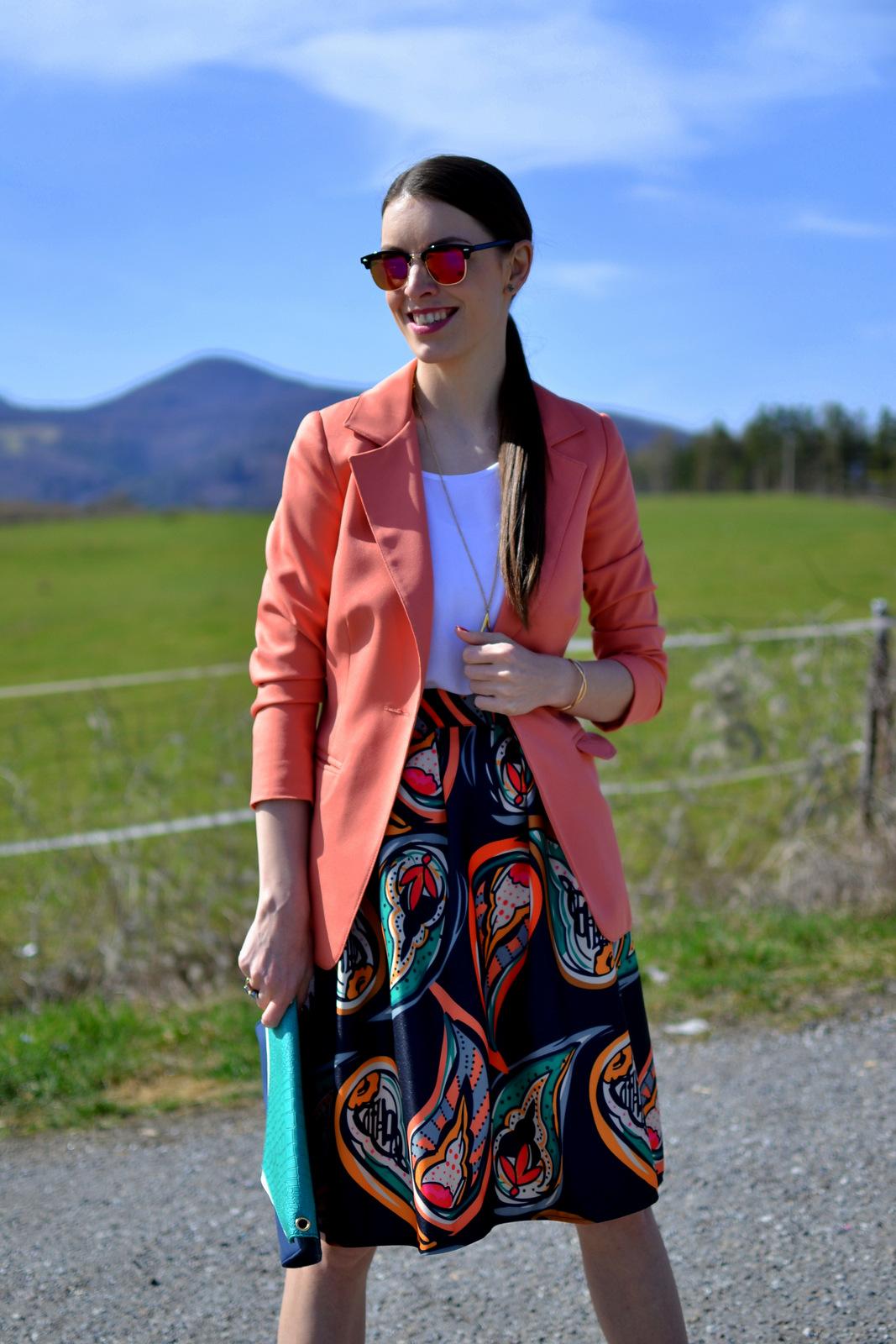 paisley pattern skirt