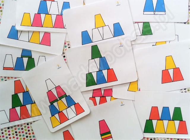piramidy z kubeczków, piramidy z kubków plansze, wzory, wieże z kubków, kubeczki kodowanie