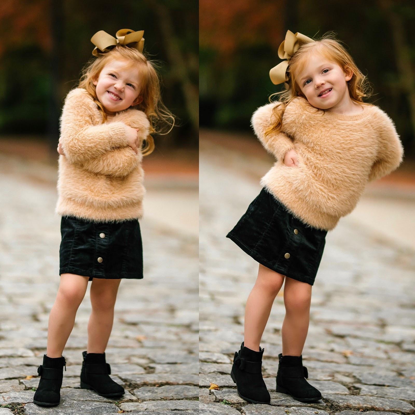 Mommy & Me Look: Twinning in Black Corduroy Skirts - Something Delightful Blog