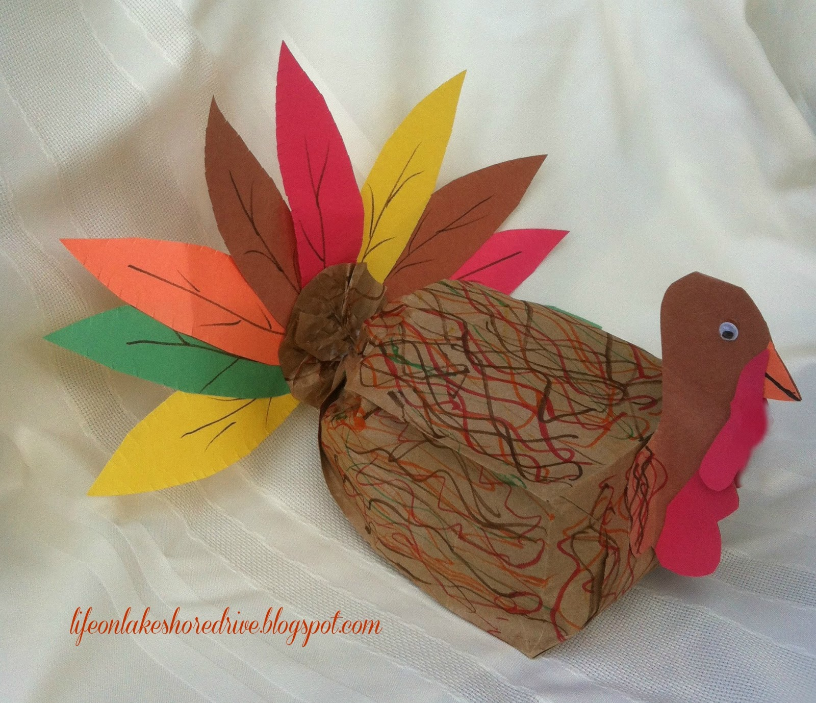 Paper Bag Turkey Craft For Kids Life On Lakeshore Drive