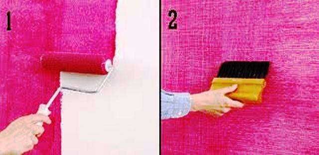 pintar paredes con cepillo