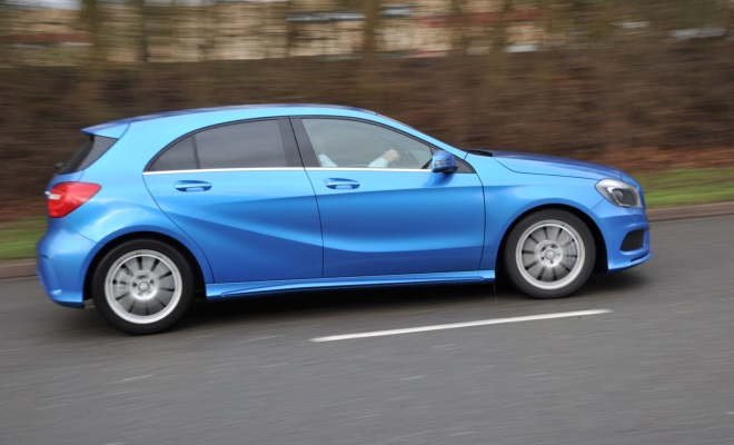 Mercedes A-Class AMG Sport side view