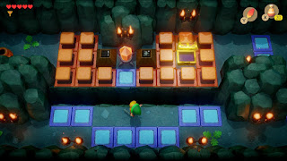 a room in the Bottle Grotto with lots of crystal blocks
