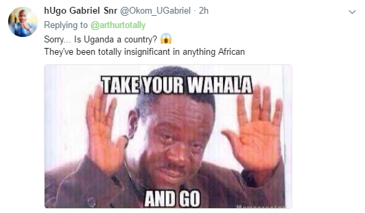 Nigerians go hard on Ugandan who tried to diss them early this morning