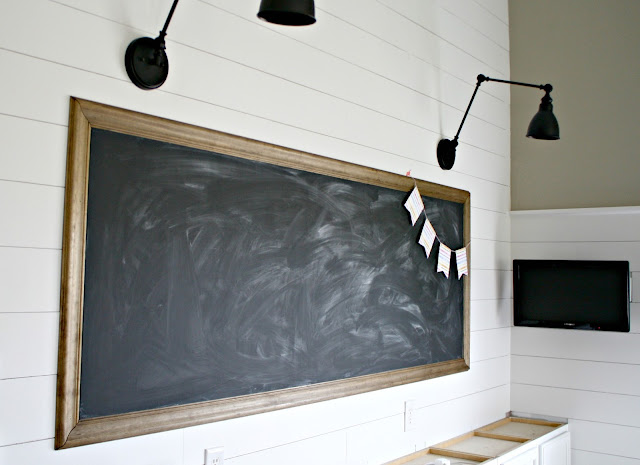 How to make a huge chalkboard