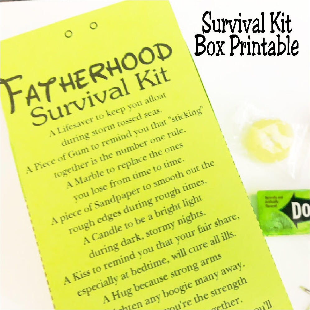 Diy Party Mom Fatherhood Survival Kit Perfect For A