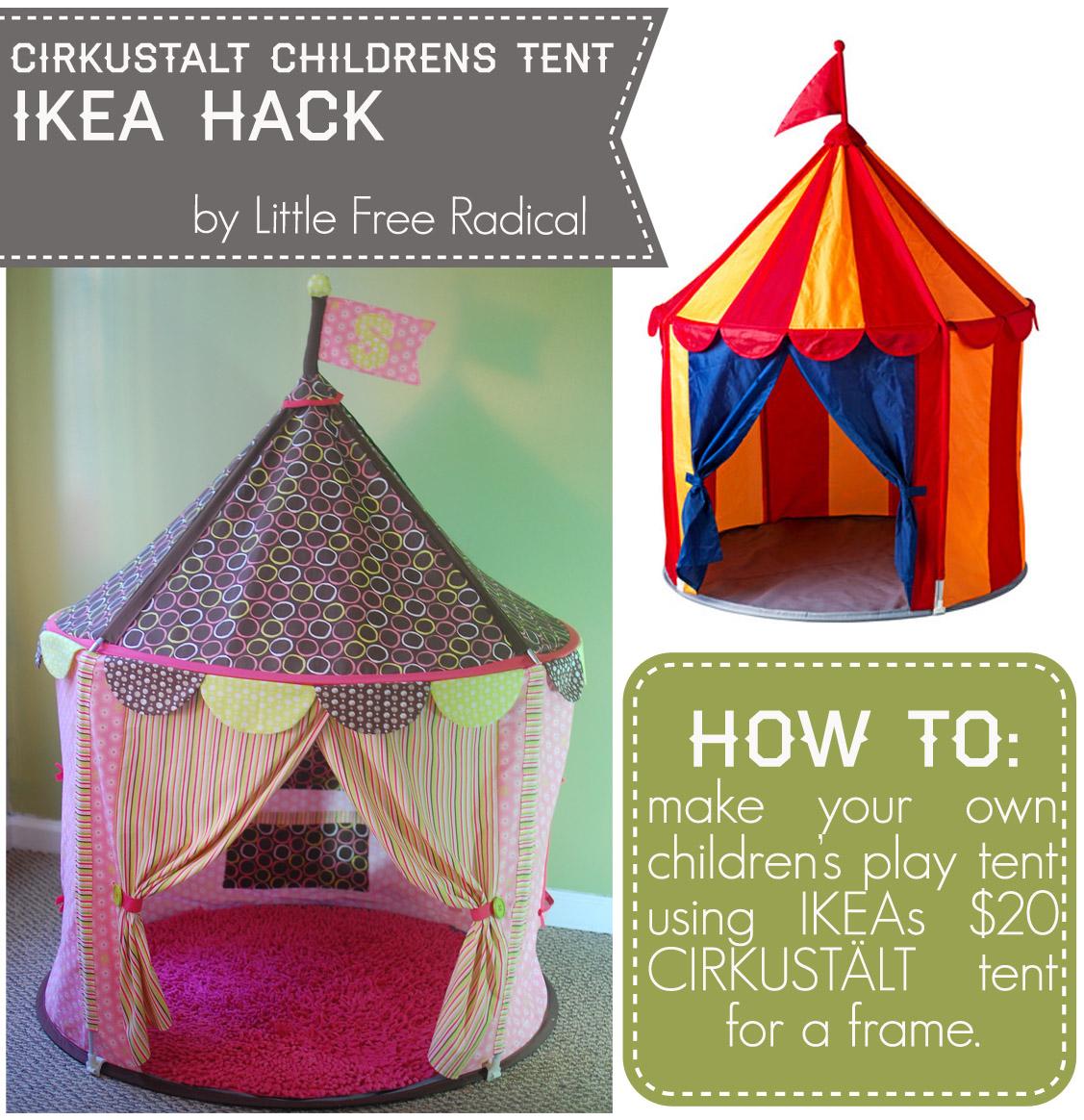 best cheap f1515 77fb5 Little Free Radical: CIRKUSTÄLT children's tent makeover ...