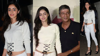 Hot ananya pandey with her father