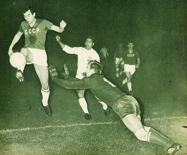 Chile y Unión Soviética en partido amistoso, 16 de diciembre de 1967