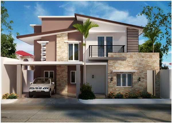 desain rumah minimalis 2 lantai atap pelana